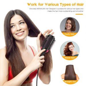 One Step Hair Dryer and Volumizer Hair Straightener Curler